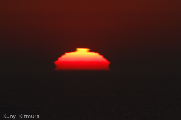 今年6度目の変形太陽