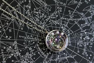 流星・紫 黒星図