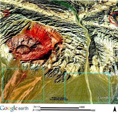 6500万年前の二次的溶岩痕・2