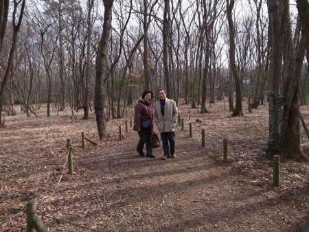 森林散歩中