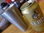 ヱビス缶ビール@らーめんやまふじ新大阪本店