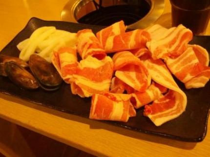 しゃぶしゃぶのお肉と魚介類
