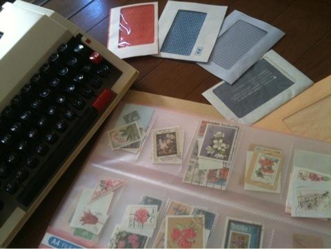 DM封筒と古切手とタイプライターとIMG_6160