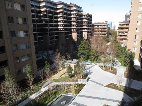 広尾ガーデンフォレスト、中庭