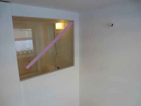 立川アパートNo3リビングから浴室