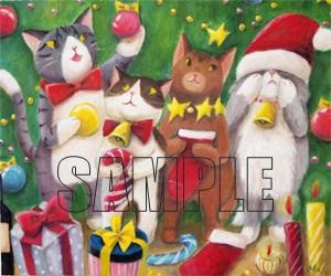 猫たちのクリスマスサンプル