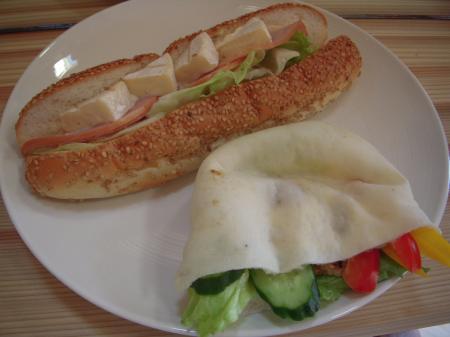 ピタパンサンド&カマンベールチーズサンド