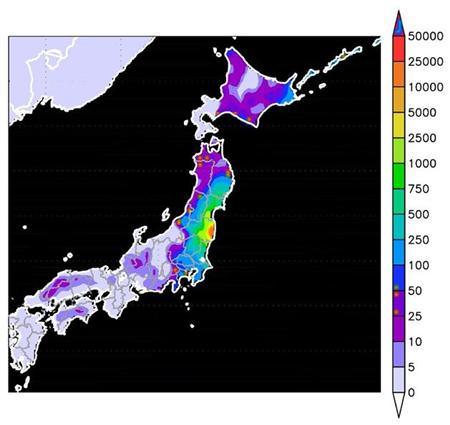 鮮明な全国汚染地図