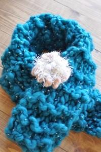 指編みプチマフラー
