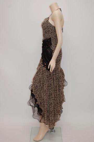 クロスチュール☆豹柄 ショートドレス