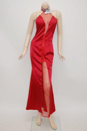 sexyシースルーライン ロングドレス