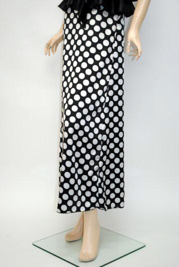 胸元3段フリルリボン ロングドレス