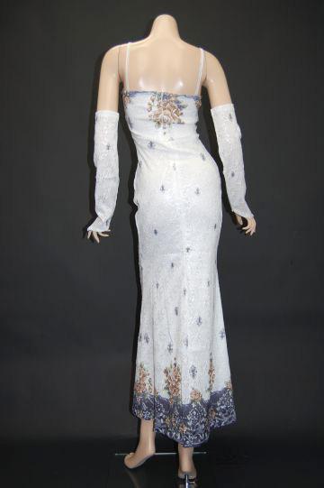 クラシックフラワー ロングドレス
