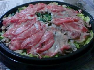 春野菜の蒸し豚しゃぶ