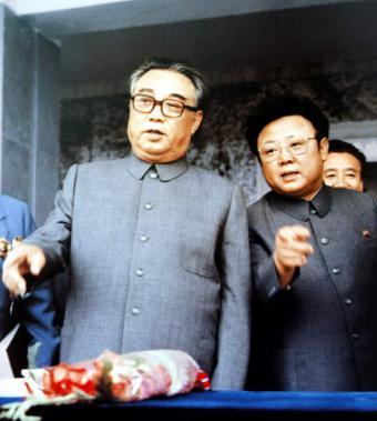 北朝鮮金日成死去画像