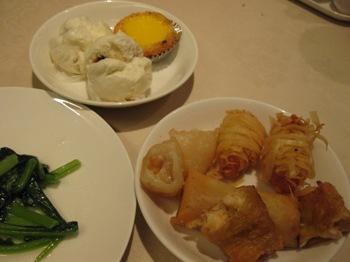 老香港酒家6 揚げ物 青野菜など