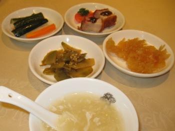 老香港酒家 前菜 スープ