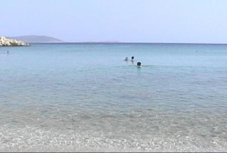 南部のビーチ(2) 対岸トルコ