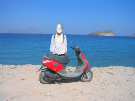 バイクで回ったミロス島のビーチ
