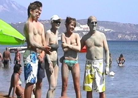 クシービーチの泥パック