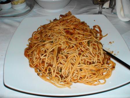 ミコノス パラポルティアニのロブスタースパゲティ