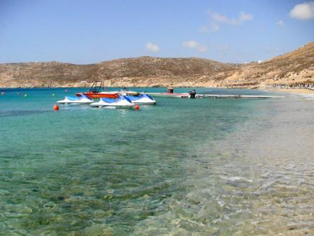 ミコノス 朝のエリアビーチ