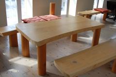 杉のテーブルセット