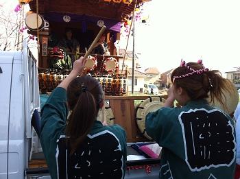 所沢囃子連とゲリラ山車