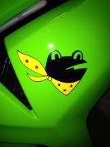 カエル色バイク3