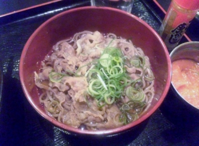 140129二代目亀田精肉店ランチ味噌汁をミニ肉そば変更+150円