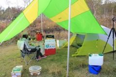 テント設営完了!