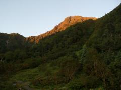 朝焼けの北岳
