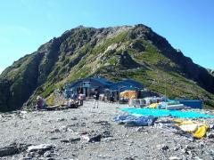 肩ノ小屋と北岳
