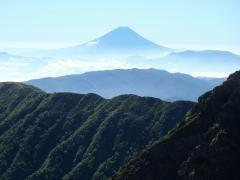 肩ノ小屋からの富士山