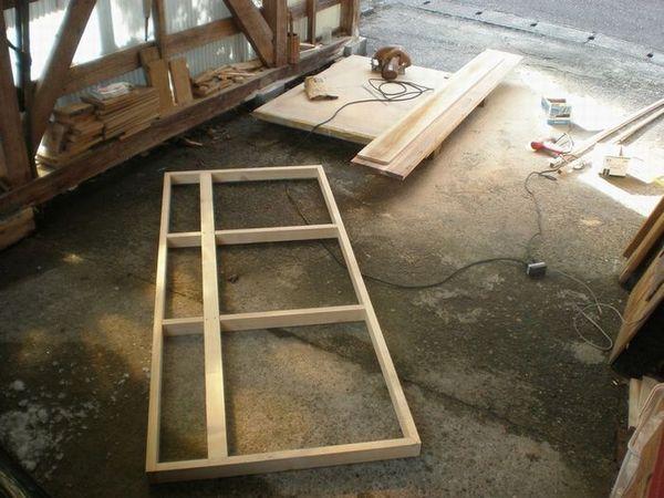 新居の枠作り