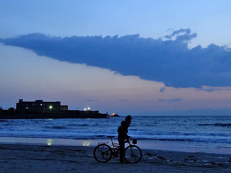 130427逗子海岸夕景2
