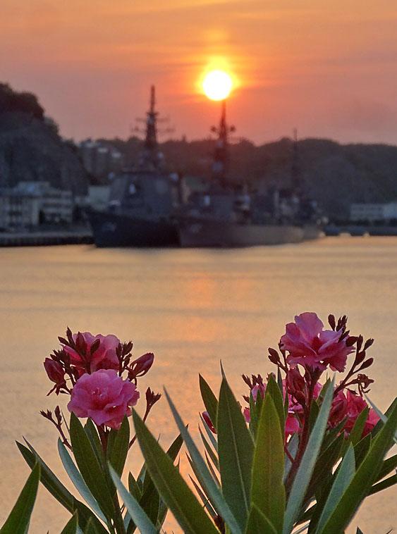 130604横須賀本港の落陽3