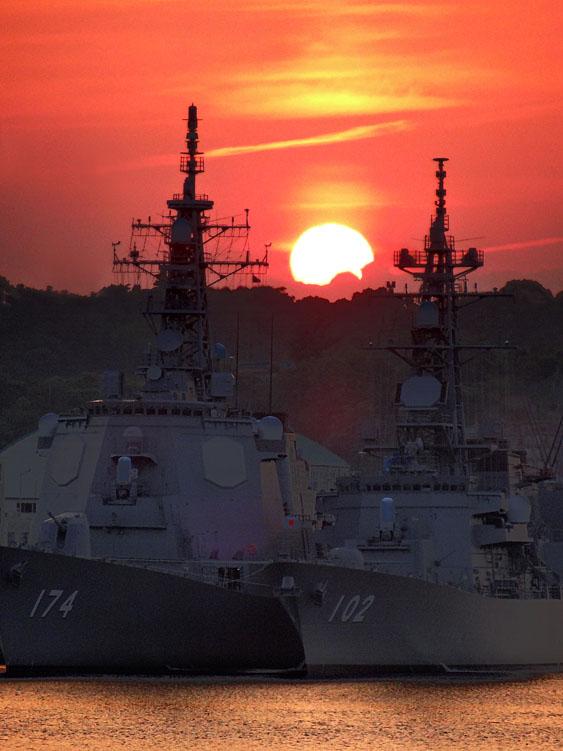 130604横須賀本港の落陽2