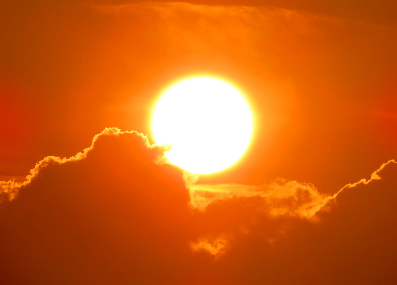 130707梅雨明けの落陽2