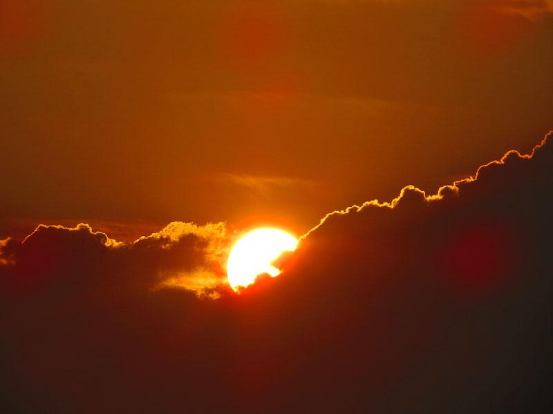130707梅雨明けの落陽3
