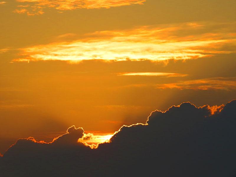 130707梅雨明けの落陽4