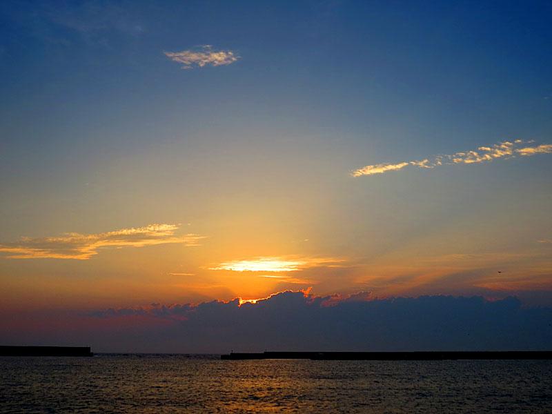 130707梅雨明けの落陽5