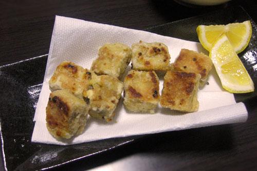にんにく風味の高野豆腐のから揚げ