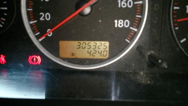 30万キロを超えてしまいました ^^;