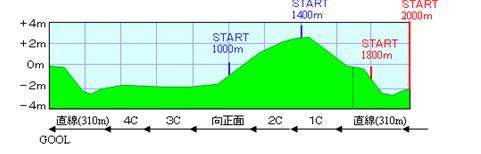 中山2000m内横断図
