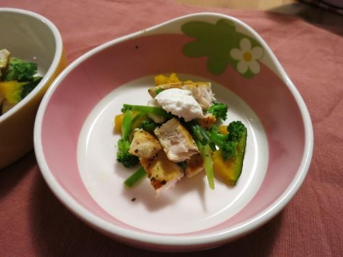 朝ご飯 マグロのハーブ焼き