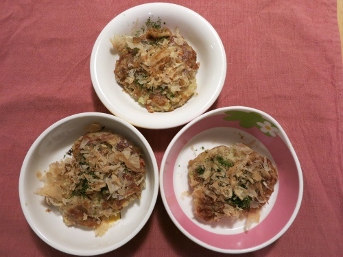 夜ご飯 お豆腐と豚肉のお好み焼き