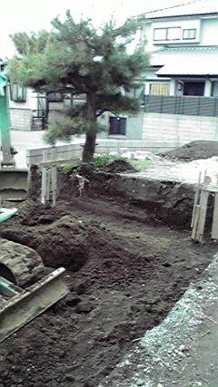 掘り込み玄関から松ノ木