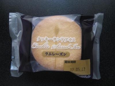 クッキーサンドアイスラムレーズン