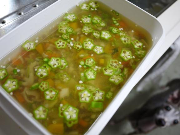 お湯600ml分のゼラチン+野菜あれこれ